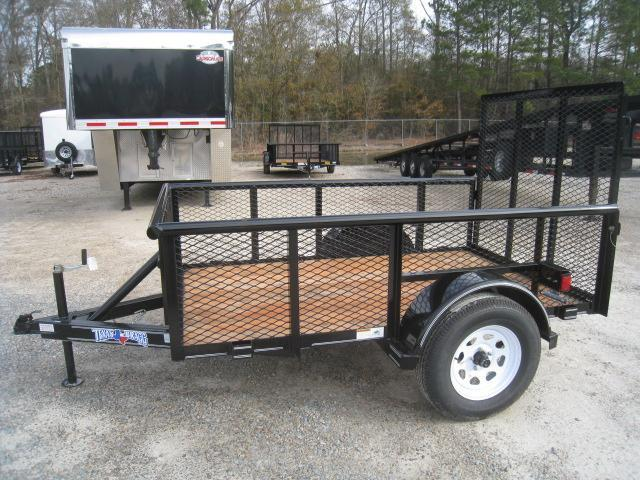 """2019 Texas Bragg Trailers 5x8P Utility Trailer with 24"""" Expanded Metal Sides"""