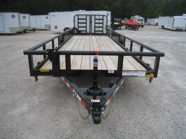 2019 PJ Trailers P8 Pipe Top 24'  Equipment Trailer with 7K Dexter Axles