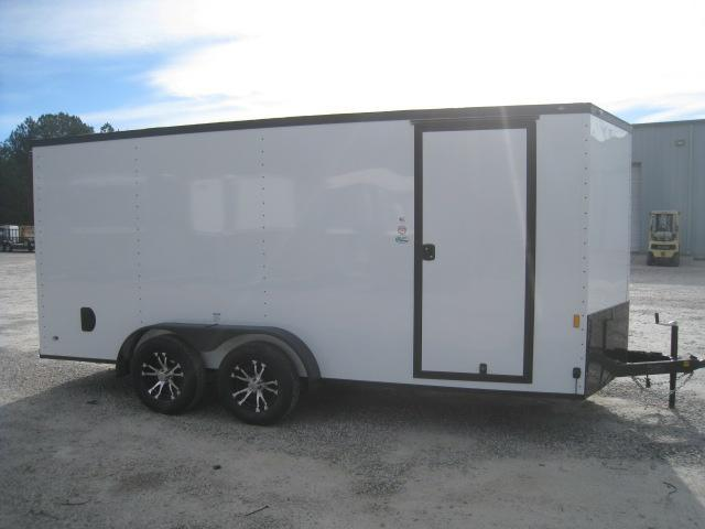 2019 Continental Cargo Sunshine 7x16 Vnose Enclosed Cargo Trailer with Blacked Out Trim