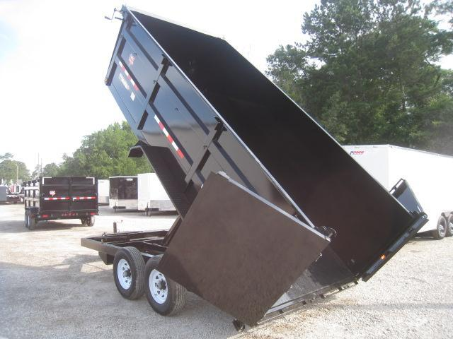 "2019 PJ Trailers High Side DC 16' X 83"" Dump Trailer"