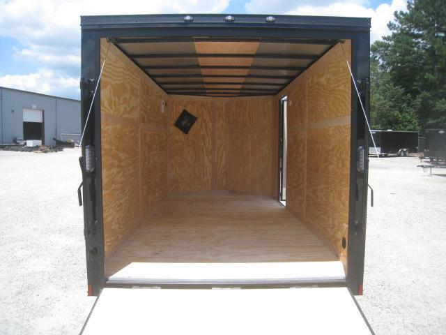2019 Continental Cargo Sunshine 7x14 Vnose Motorcycle Trailer with Blackout Package