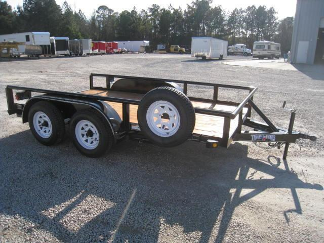 "2015 Texas Bragg Trailers 82 X 12 TA w/ 60"" Slide In Ramps"