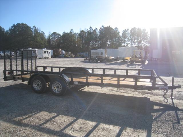 2019 Texas Bragg Trailers 20P Utility Trailer with Heavy Duty Rear Gates