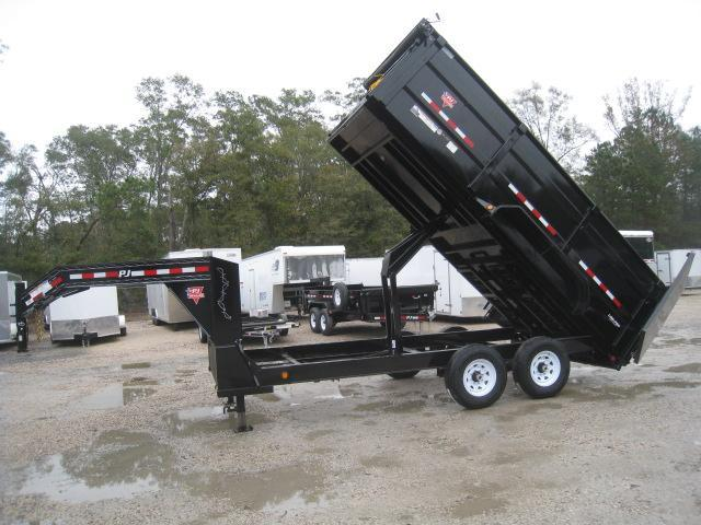 2019 PJ Trailers DM 83 x 16 Low Pro High Side Gooseneck Dump Trailer