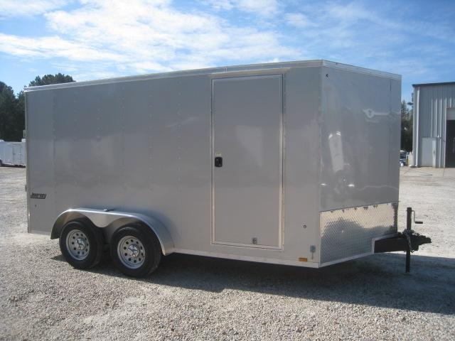 2019 Pace American Journey 7x14 Vnose Silver Enclosed Cargo Trailer