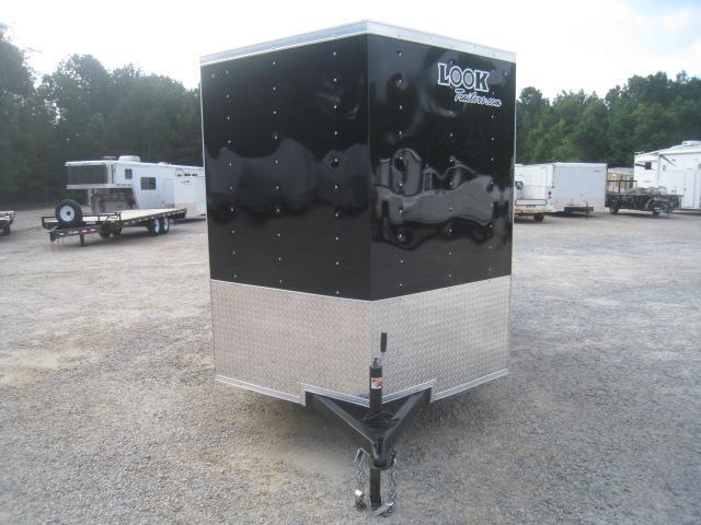 2019 Look Trailers Element 6x12 Vnose Enclosed Cargo Trailer with Ramp Door