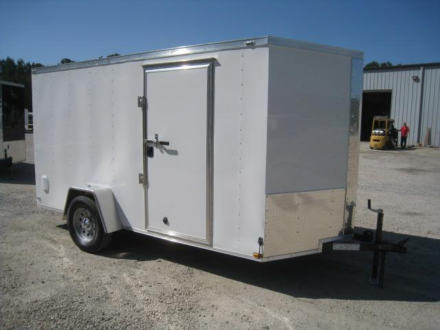 2019 Lark 6 X 12 Vnose Enclosed Cargo Trailer