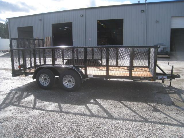 "2019 Texas Bragg Trailers 16P Utility Trailer with 36"" Expanded Metal Sides"