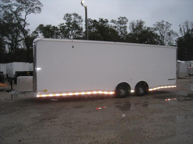 2019 Cargo Mate Aluminum Eliminator 28' with Cabinets on the Sidewall