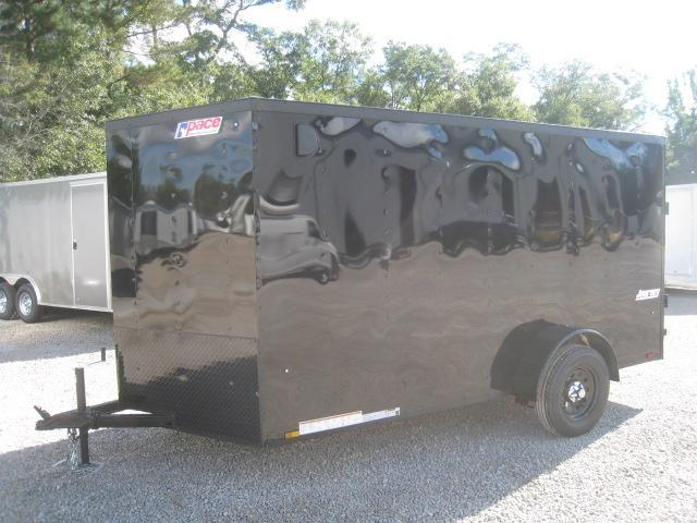 2019 Pace American Journey 6x12 Vnose Enclosed Cargo Trailer with Exterior Blackout Pkg