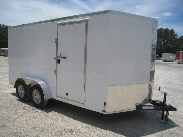 2019 Lark 7 X 14 Vnose Enclosed Cargo Trailer with Ramp Door in Brunswick, NC
