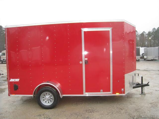 2019 Pace American Journey 6 x 12 Vnose Enclosed Cargo Trailer with 7' Inside Height in Morrisville, NC