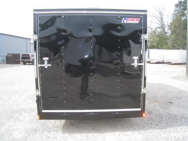 2019 Pace American Journey 7x16 Vnose Black Enclosed Cargo Trailer