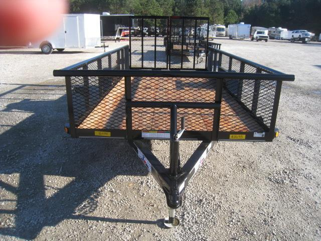 """2019 Texas Bragg Trailers 6X14P Utility Trailer with 24"""" Expanded Metal Sides"""
