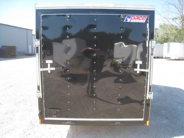 2019 Pace American Journey 6x10 Vnose Black Enclosed Cargo Trailer
