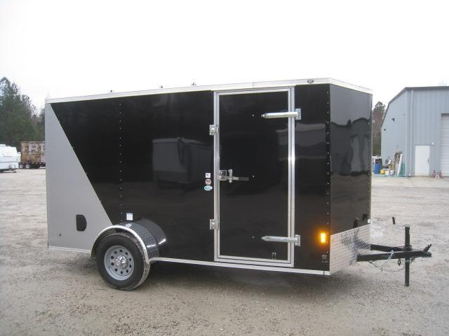 2019 Continental Cargo Sunshine 6 x 12 Vnose Enclosed Cargo Trailer with Ramp Door