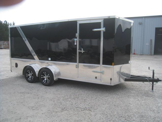 2019 Continental Cargo Sunshine 7x16 Vnose Motorcycle Trailer