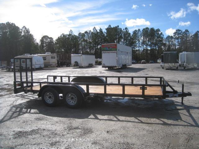 2019 Texas Bragg Trailers 18P Utility Trailer with Heavy Duty Rear Gates