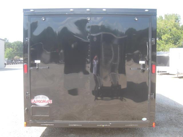 2018 Continental Cargo 8.5 X 20 Vnose Black Out PKG Enclosed Car Trailer