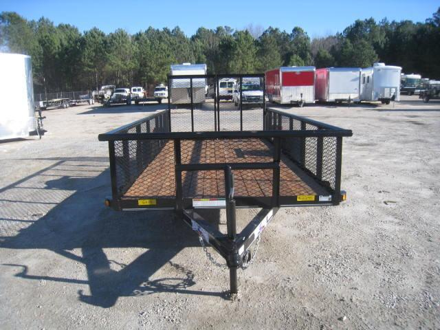 """2018 Texas Bragg Trailers 6X14P Utility Trailer with 24"""" Expanded Metal Sides"""