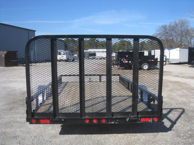 """2018 PJ Trailers U8 14'X83"""" Utility Trailer with Rear Gate and ATV Ramps"""