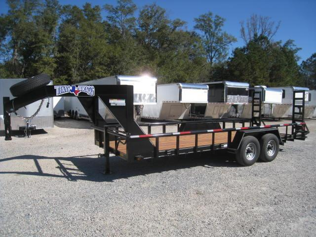 2017 Texas Bragg Trailers 82 X 20 Big Pipe Gooseneck Equipment Trailer