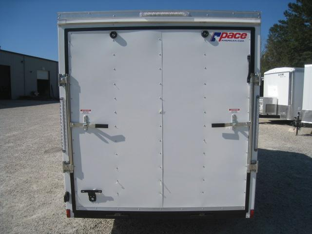 2019 Pace American Journey 6x10 Vnose White Enclosed Cargo Trailer