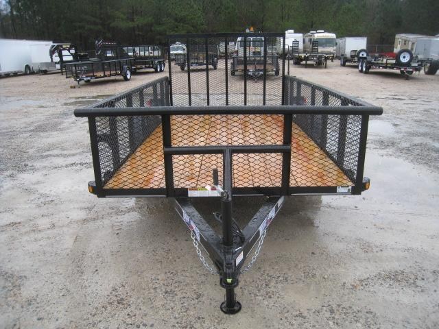 """2019 Texas Bragg Trailers 6x12P Utility Trailer with 24"""" Expanded Metal Sides"""
