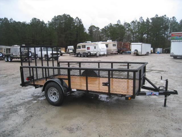 "2019 Texas Bragg Trailers 6x12P Utility Trailer with 24"" Expanded Metal Sides"