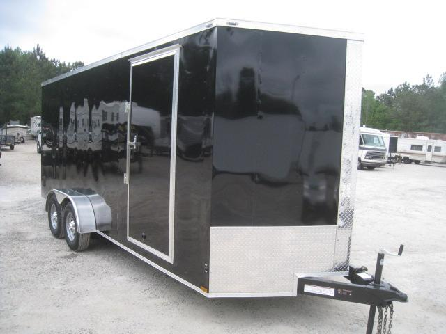 2019 Lark 7 X 18 Vnose Enclosed Cargo Trailer in Trenton, NC