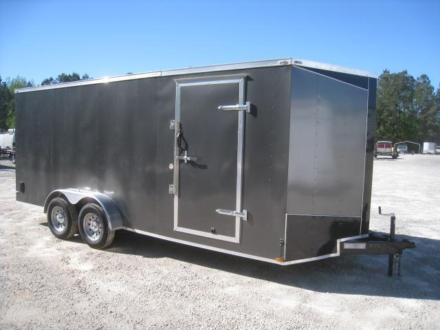 2019 Lark 7 X 18 Vnose Enclosed Cargo Trailer in Brunswick, NC