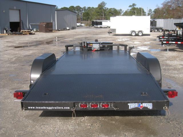 2017 Texas Bragg 82 X 18 Classic Open Car Hauler with 10K Winch