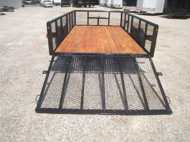 """2018 Texas Bragg Trailers 6X12P Utility Trailer with 24"""" Expanded Metal Sides"""