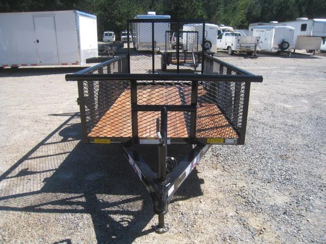 """2018 Texas Bragg Trailers 5X10P Utility Trailer with 24"""" Expanded Metal Sides"""