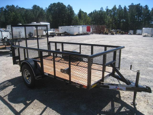 "2018 Texas Bragg Trailers 5X10P Utility Trailer with 24"" Expanded Metal Sides"