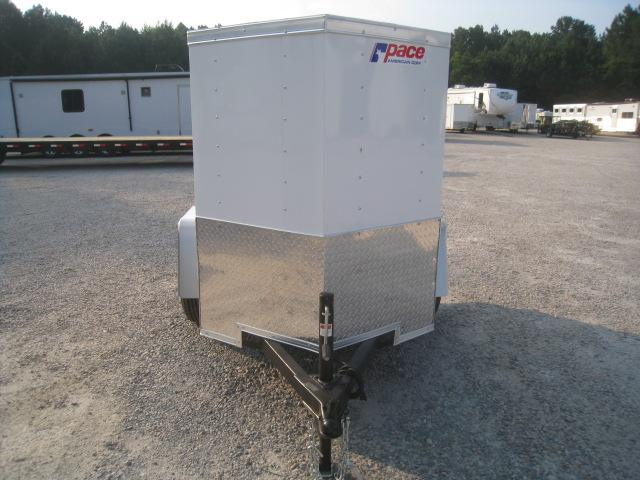 2019 Pace American Journey 4x6 Vnose  Enclosed Cargo Trailer with Swing Open Rear Door