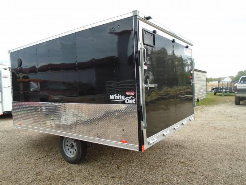 2019 Pace American 8.5x12 Whiteout Snowmobile Trailer