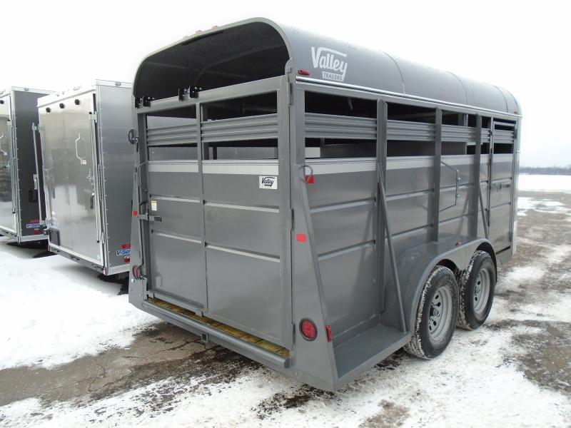2018 Valley Trailers 6x16 Stock Livestock Trailer