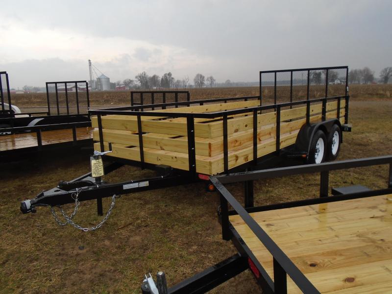 2019 GE 7X16 3 board side Landscape Utility Trailer
