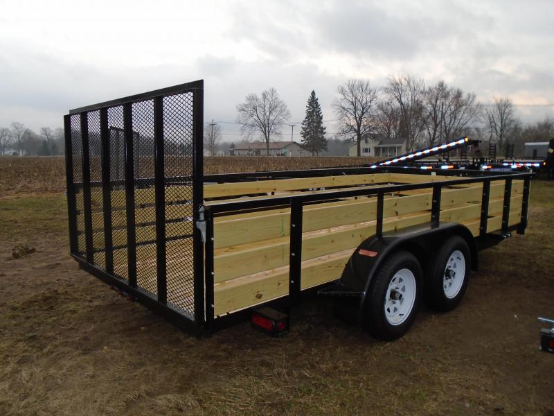 2018 GE 7X16 3 board side Landscape Utility Trailer