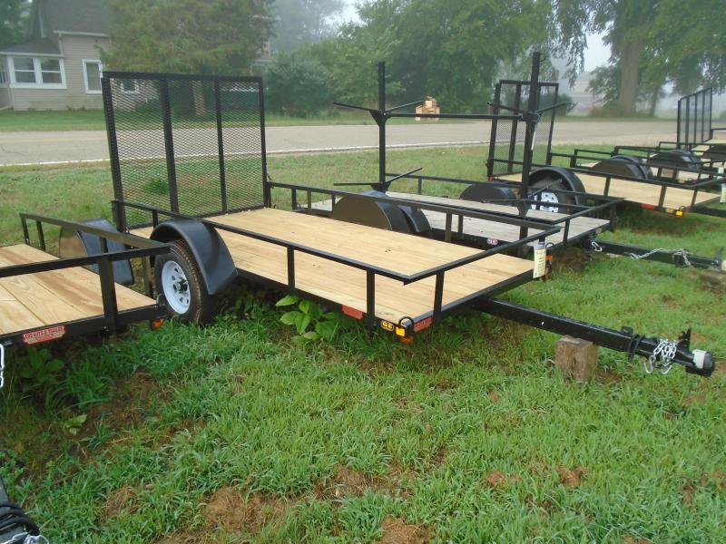 2019 GE 5x10 straight tongue light duty w/ gate Utility Trailer