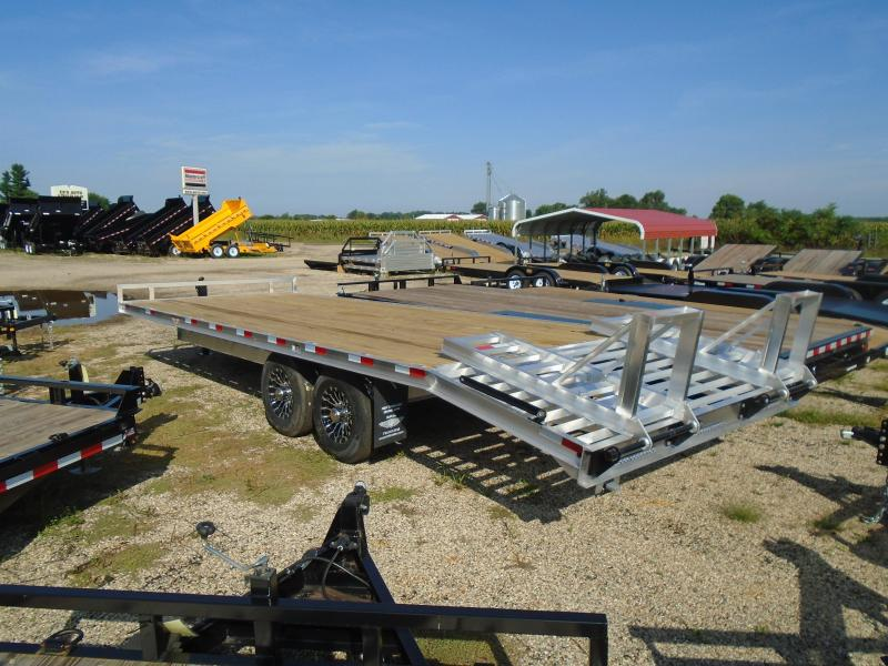 2019 H and H Trailer 24 Aluminum Deckover 14K Equipment Trailer