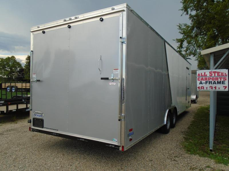 2019 Continental Cargo 8.5x28 carhauler Enclosed Cargo Trailer
