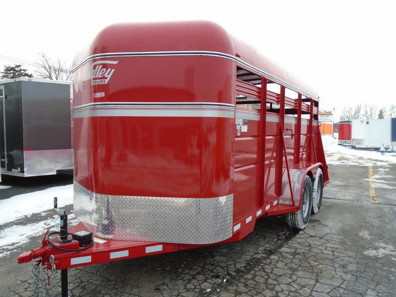 2018 Valley Trailers 6.8x16  Stock Livestock Trailer