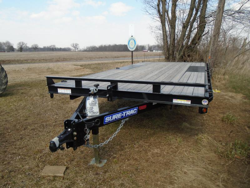2018 Sure-Trac 18 low pro deckover Equipment Trailer