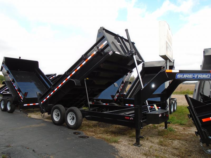 2019 Sure-Trac 82 IN X 14 LP 14K Gooseneck Telescopic Dump