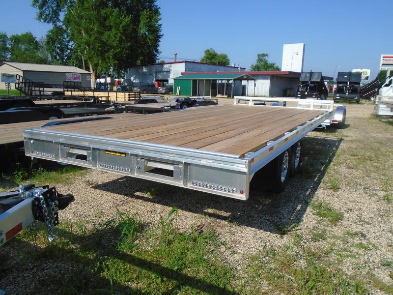 "2019 H and H Trailer 102""x20' Aluminum/wood 10k Deckover Equipment Trailer"