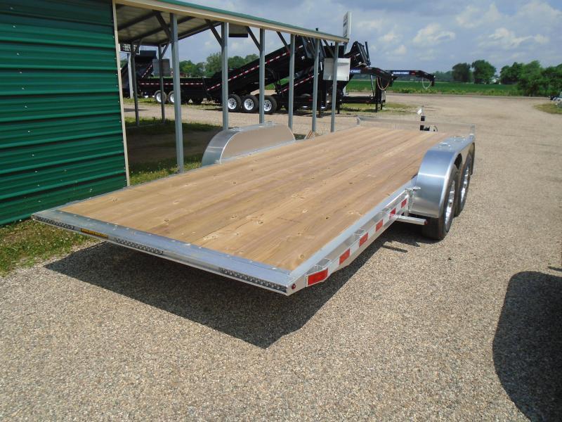 2019 H and H Trailer 20' aluminum/wood 10k manual tilt Car / Racing Trailer