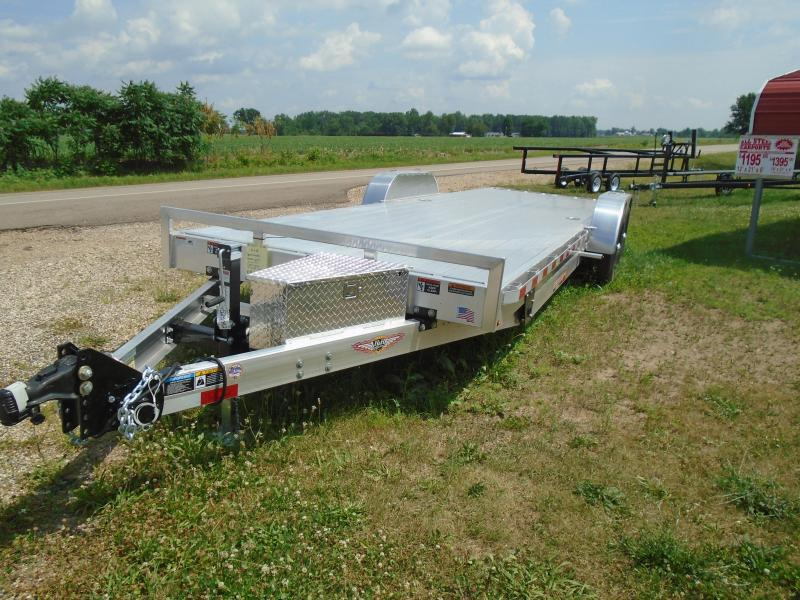 "2019 H and H Trailer 82""x24' All Aluminum 14k Power Tilt Car / Racing Trailer"