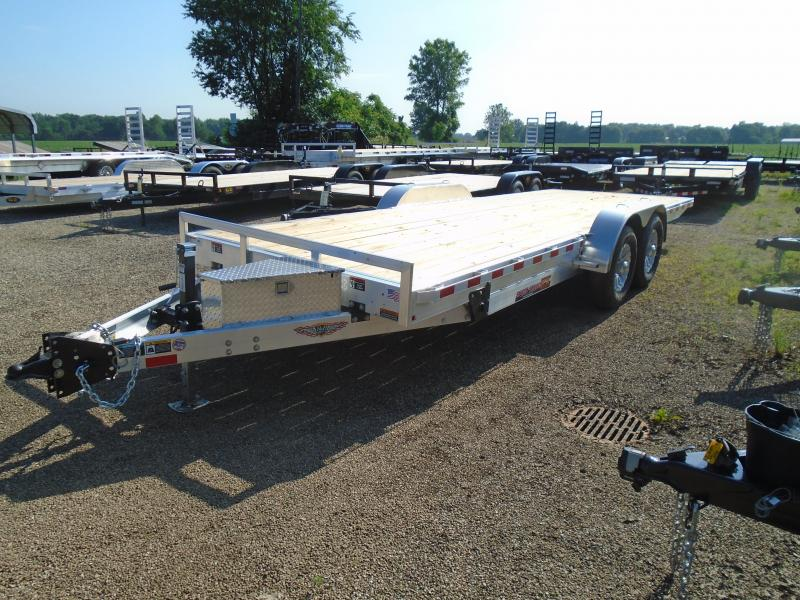 2019 H and H Trailer 22' Aluminum/wood power tilt 14k Car / Racing Trailer